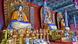 Buddha-Statuen im Yonghe-Tempel; Peking