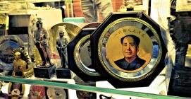 Souvenir-Teller von Mao Zedong, Chinas großem Vorsitzenden; Peking Houhai